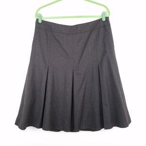 Loft Wool Pleated Flare Skirt